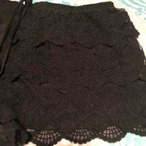 Rebellious One Shorts - Black Scalloped Plus Size Shorts